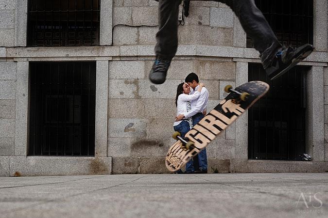 Fotógrafos de pareja en Madrid